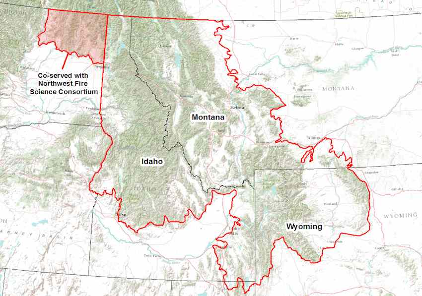 Northern Rockies Fire Science Network map